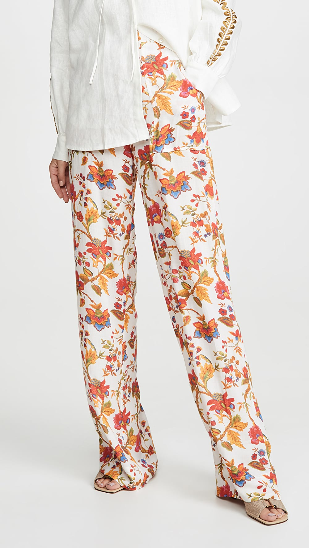 Glorious Alix Of Bohemia - Silk Floral Charlie Pants Luxuriant In Design