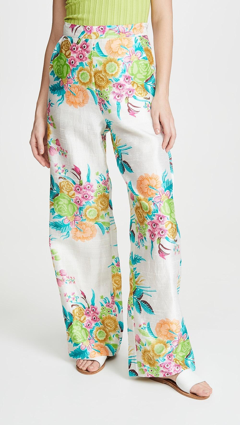 Hard-Working Alix Of Bohemia - Hendrix Pants Acid Floral Special Summer Sale