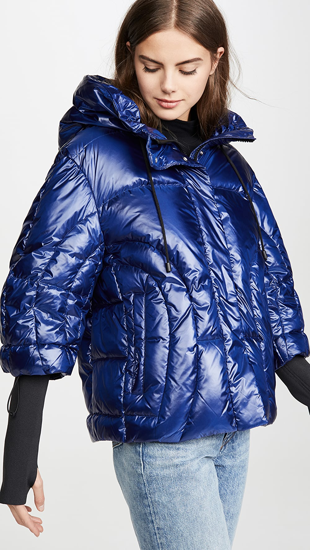 Adaptable Add Down - Oversized Hooded Down Jacket Suitable For Men, Women, And Children