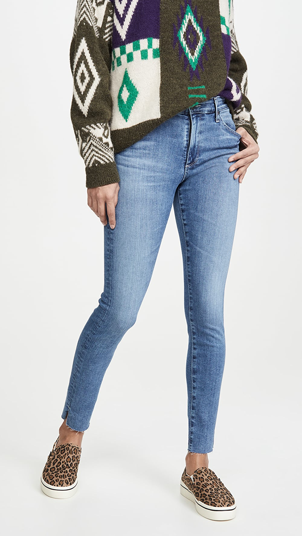 Enthusiastic Ag - Farrah Skinny Ankle Jeans Warm And Windproof