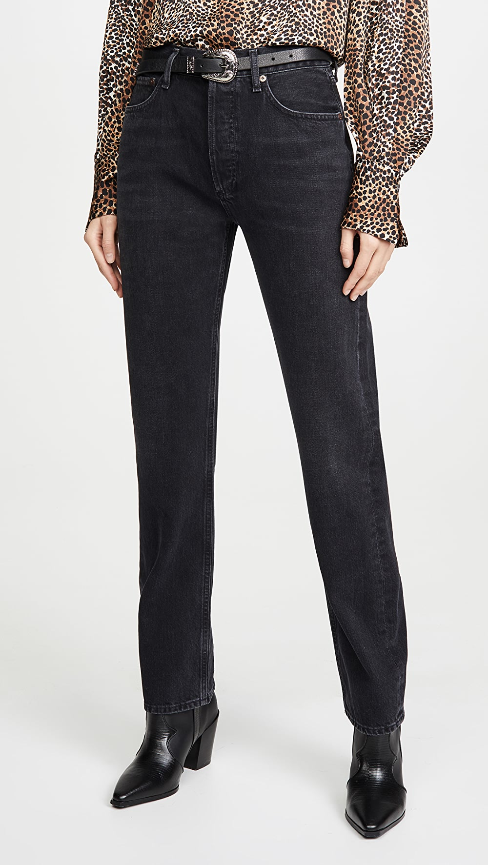 100% Quality Agolde - Lana Mid Rise Straight Jeans The Latest Fashion