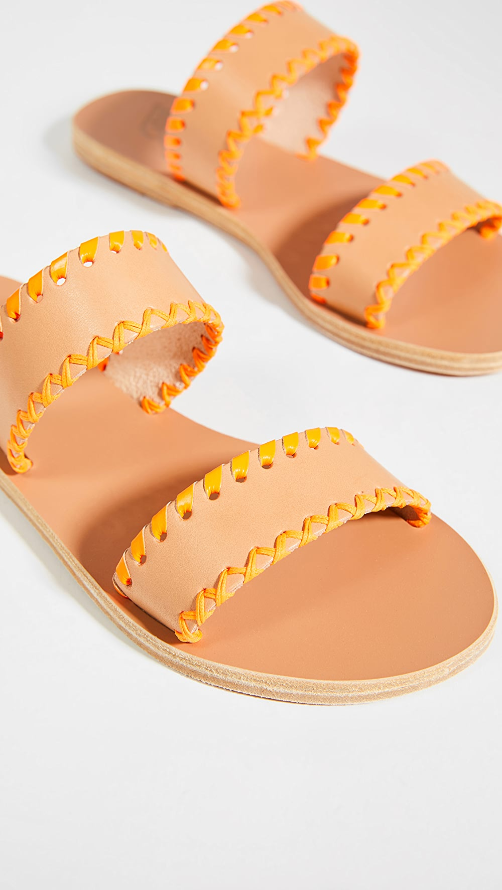 Generous Ancient Greek Sandals - Melia Stitch Slides New Varieties Are Introduced One After Another