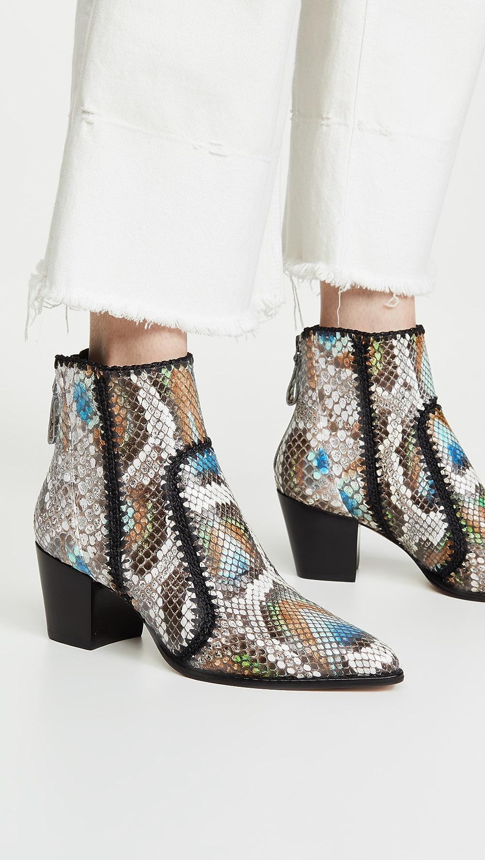 Able Alexandre Birman - Benta Python Boots Perfect In Workmanship