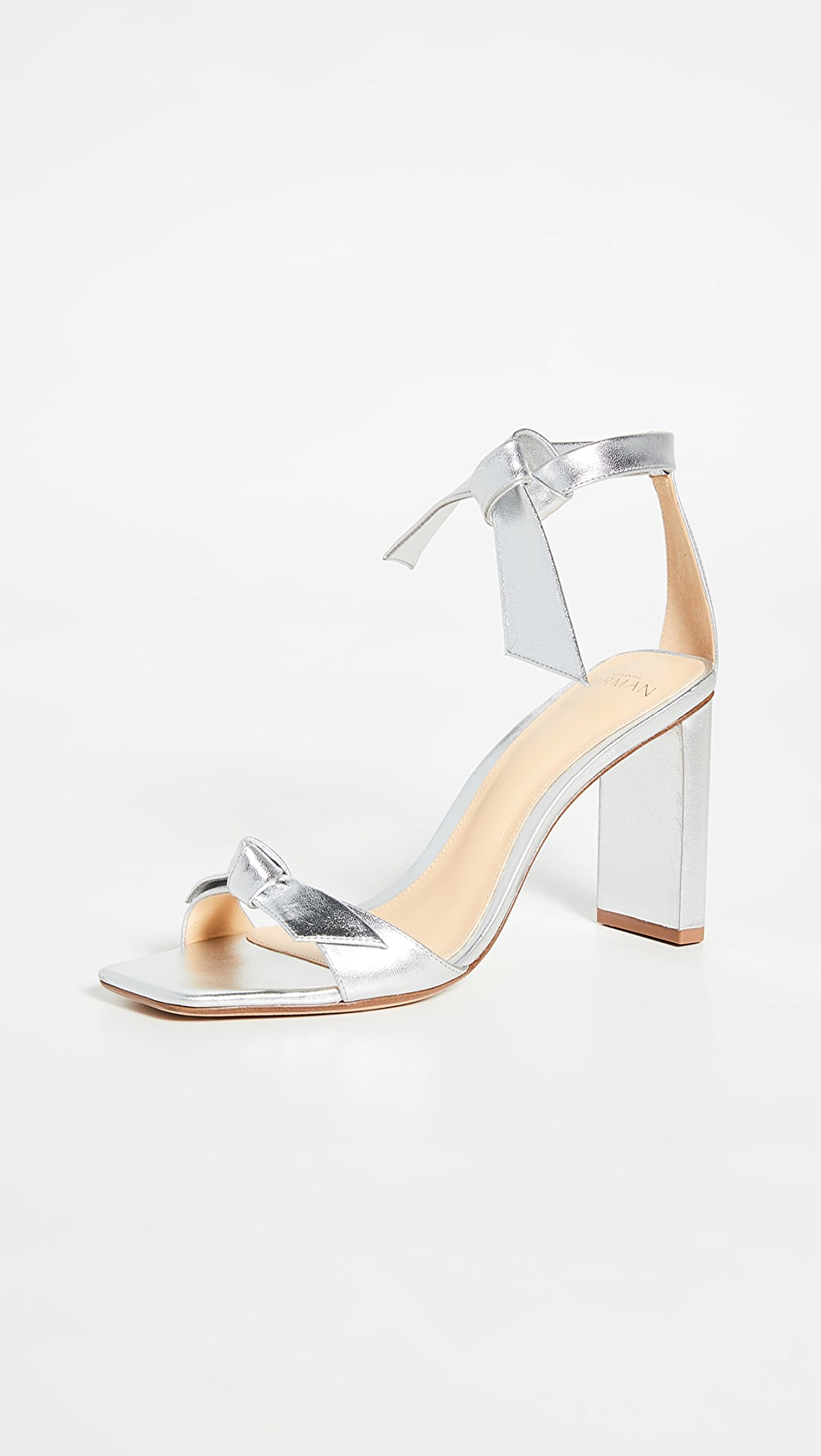 Alert Alexandre Birman - Clarita Square Pillar Sandals 85mm Can Be Repeatedly Remolded.