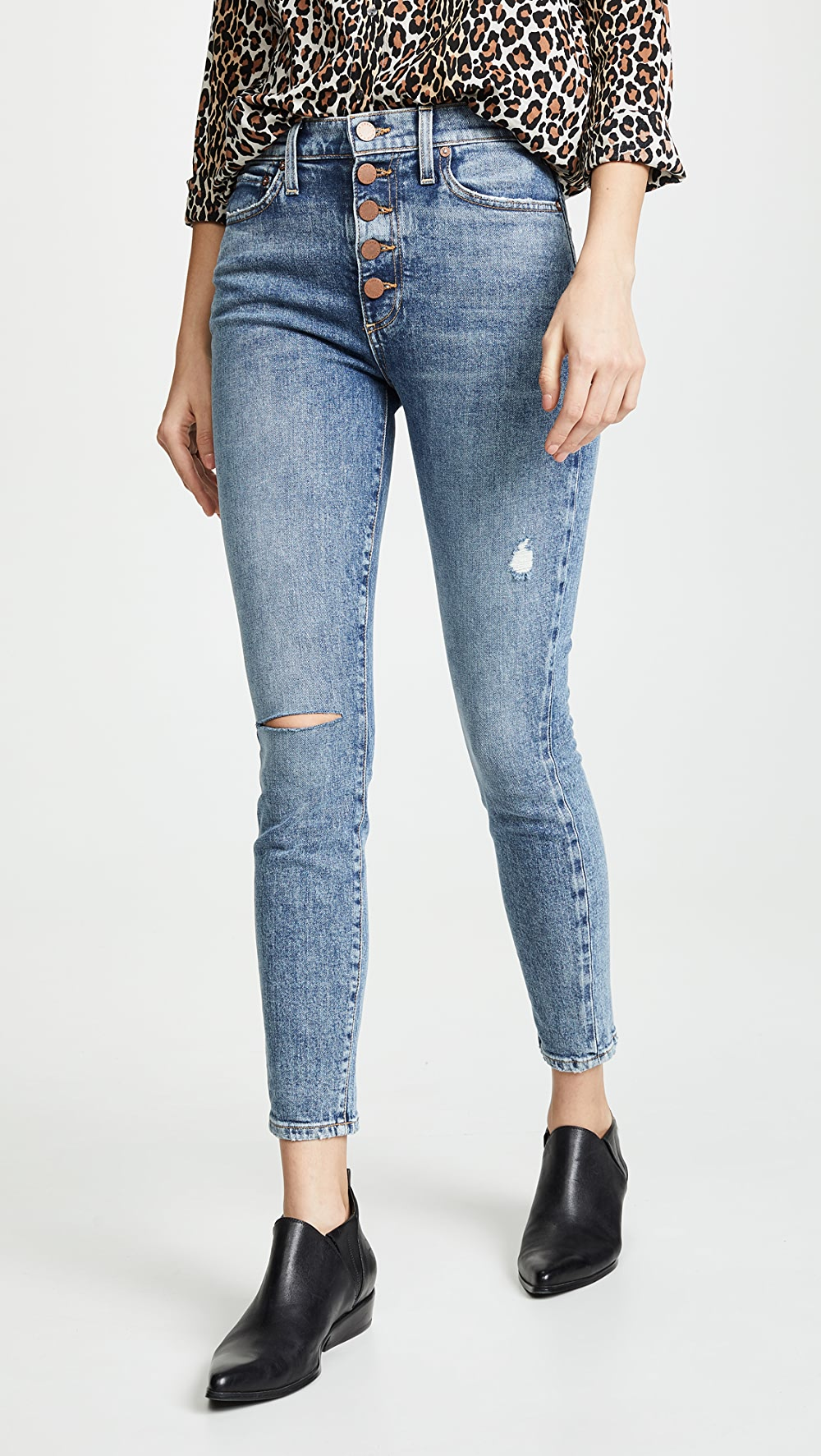 Responsible Alice + Olivia Jeans - Good High Rise Exposed Button Jeans Dependable Performance