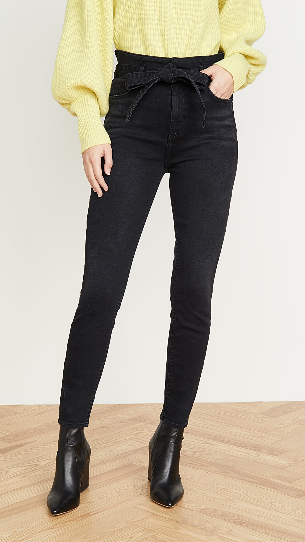 100% Quality Alice + Olivia Jeans - Good High Rise Skinny Jeans Pure Whiteness
