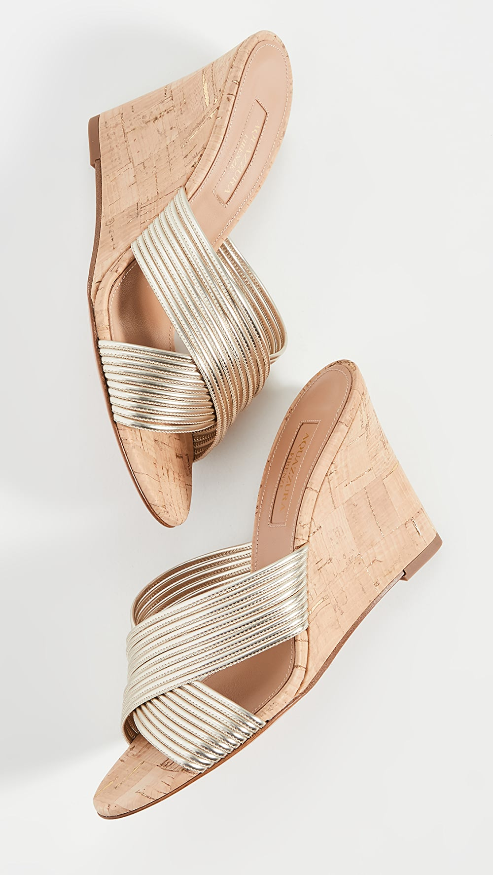 Alert Aquazzura - Perugia Wedge Sandals 85mm To Clear Out Annoyance And Quench Thirst