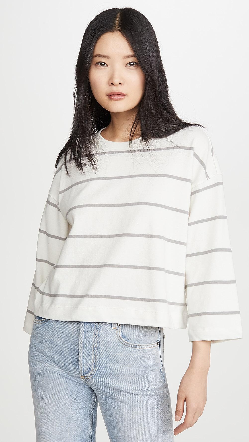 Disciplined Atm Anthony Thomas Melillo - Striped Sweatshirt Elegant In Style