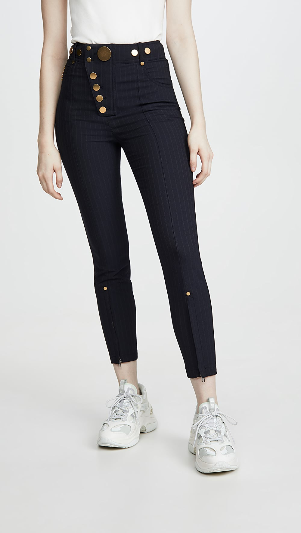 Amiable Alexander Wang - High Waisted Snap Front Leggings Catalogues Will Be Sent Upon Request
