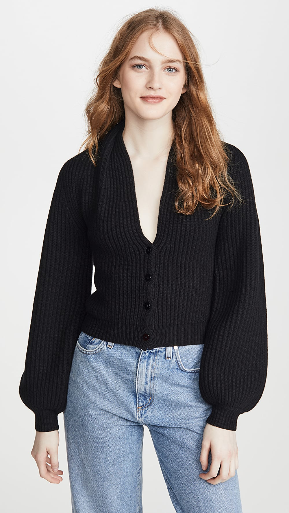 Active Alexander Wang - Ribbed Cardigan With Draped Neck Professional Design