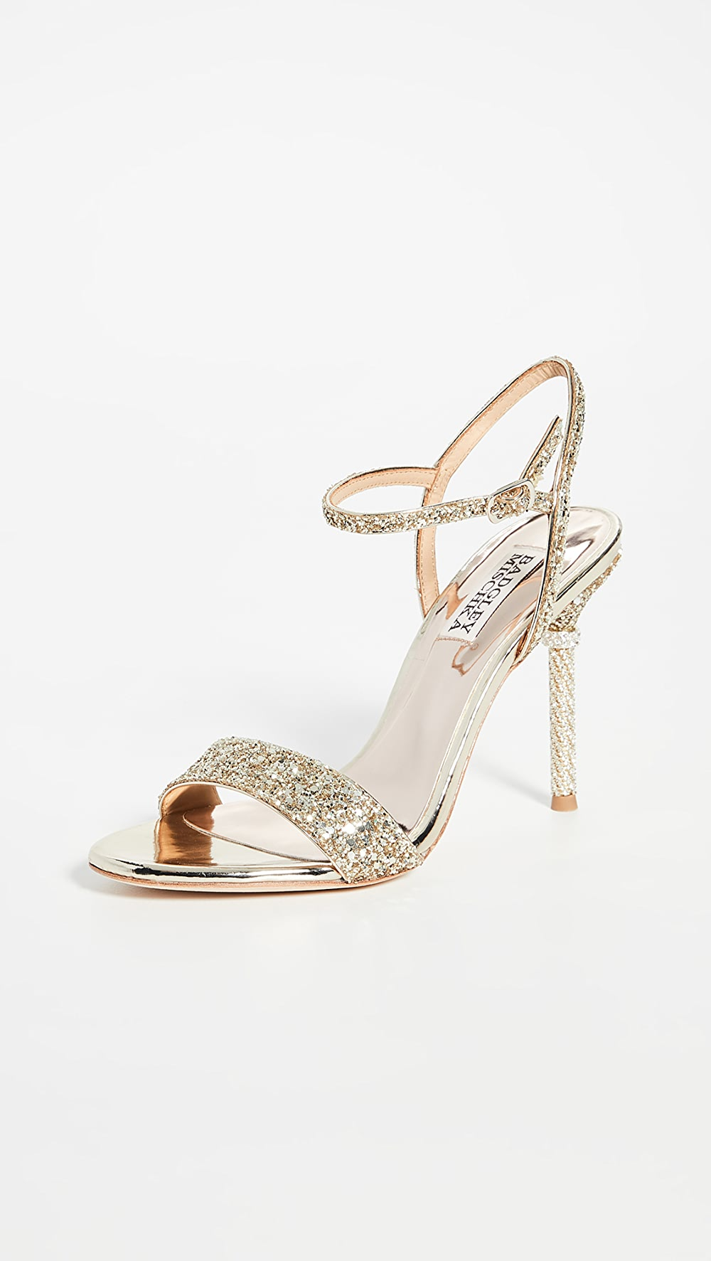 Search For Flights Badgley Mischka - Olympia Strappy Sandals Long Performance Life