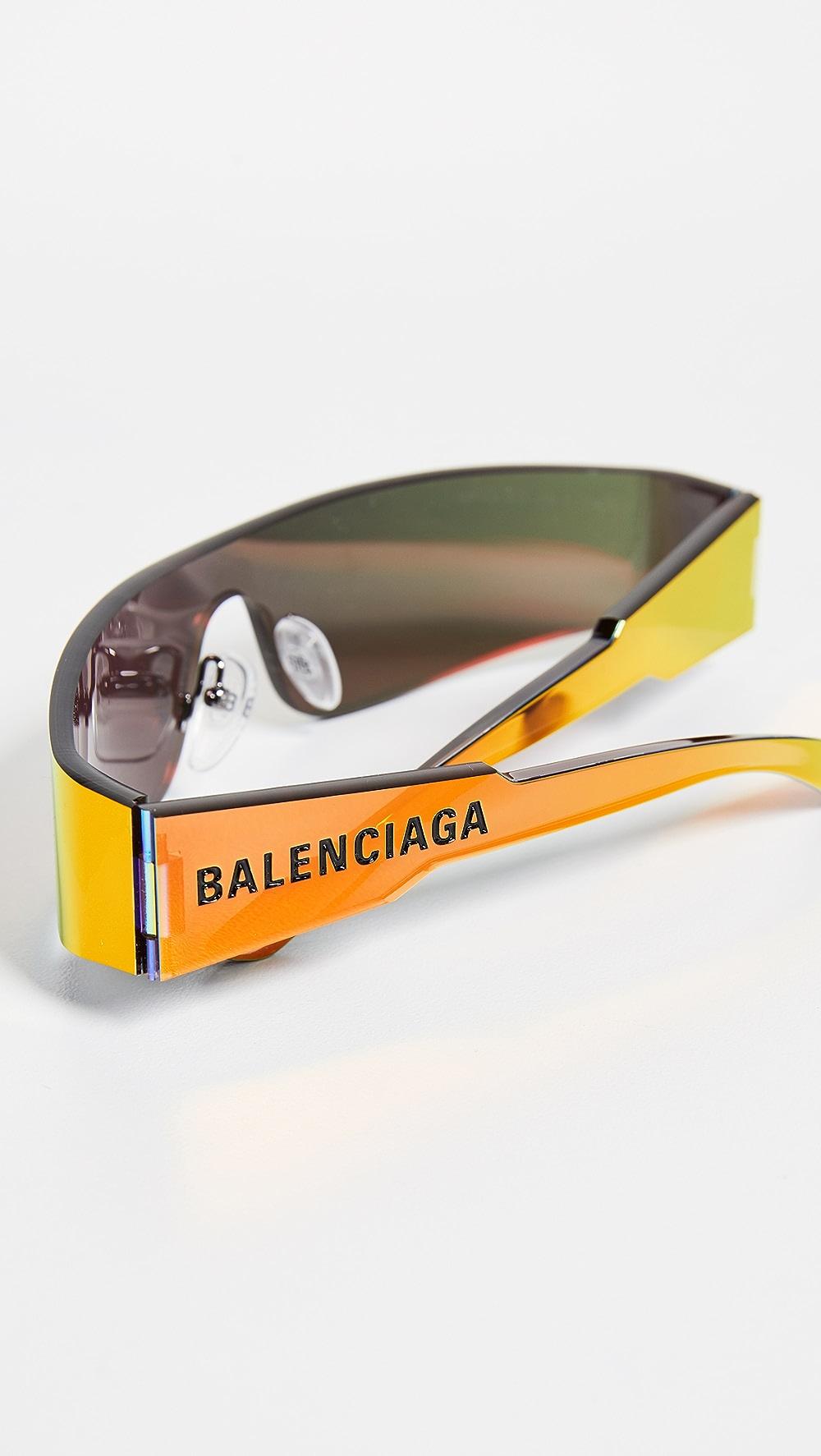 Able Balenciaga - Mono Futuristic Sunglasses Comfortable And Easy To Wear