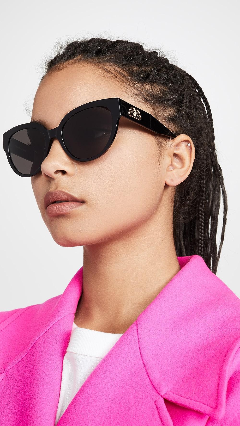 Beautiful Balenciaga - Flat Glam Shape Sunglasses Be Novel In Design
