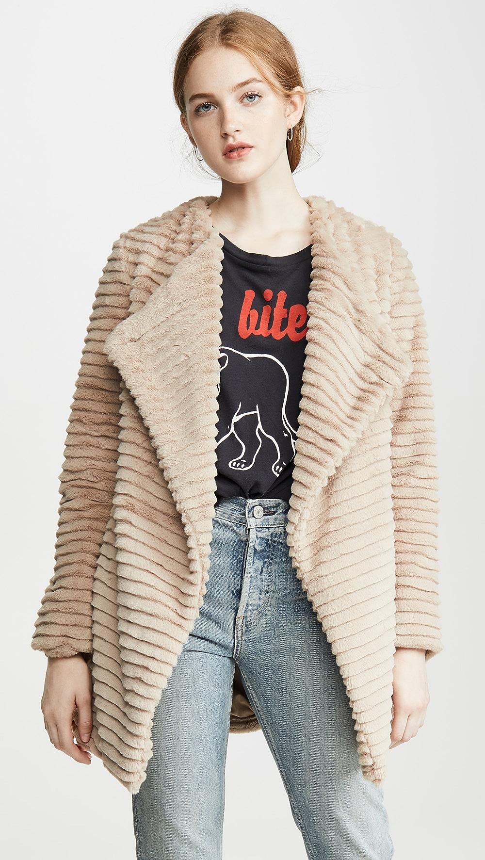 Careful Bb Dakota - Fab Moment Faux Fur Jacket Sufficient Supply