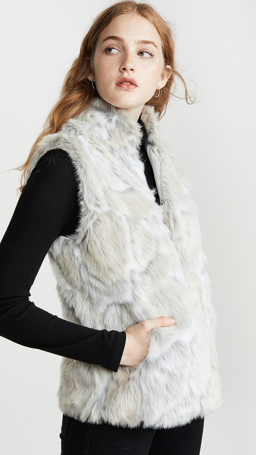 Cheap Sale Bb Dakota - Jack By Bb Dakota In A Furry Faux Fur Vest Invigorating Blood Circulation And Stopping Pains