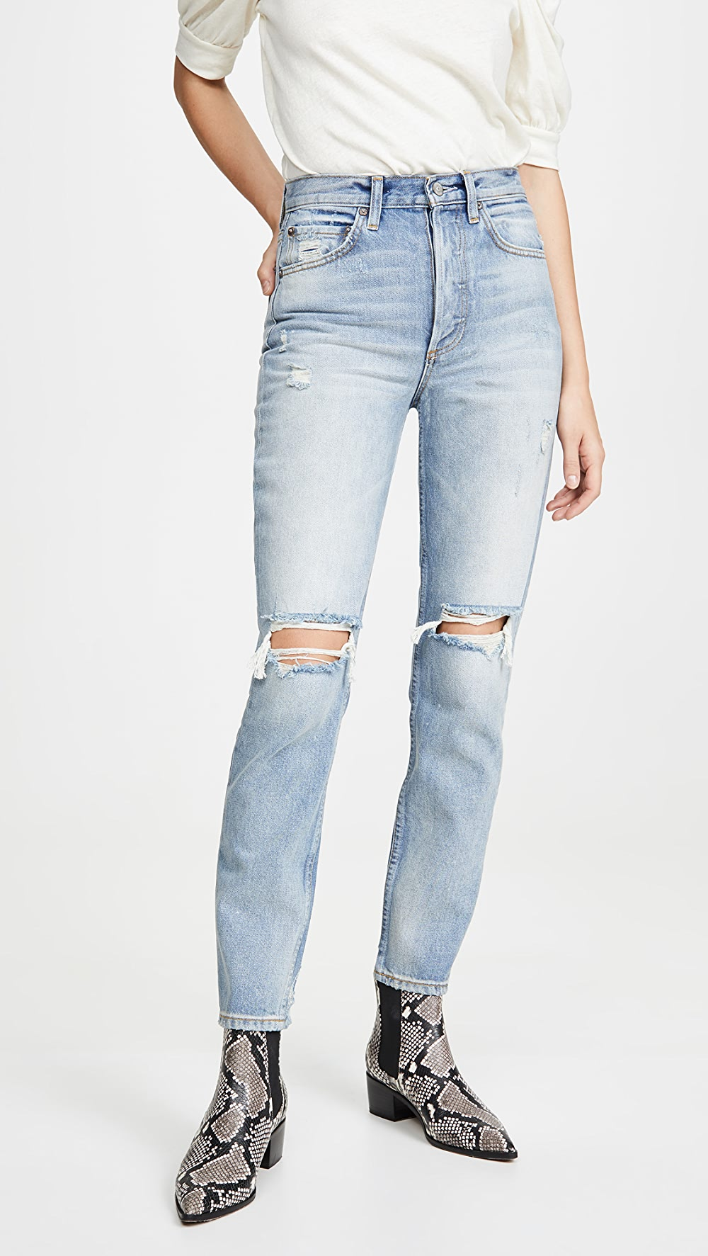 Symbol Of The Brand Boyish - The Billy High-rise Rigid Skinny Jeans Excellent (In) Quality