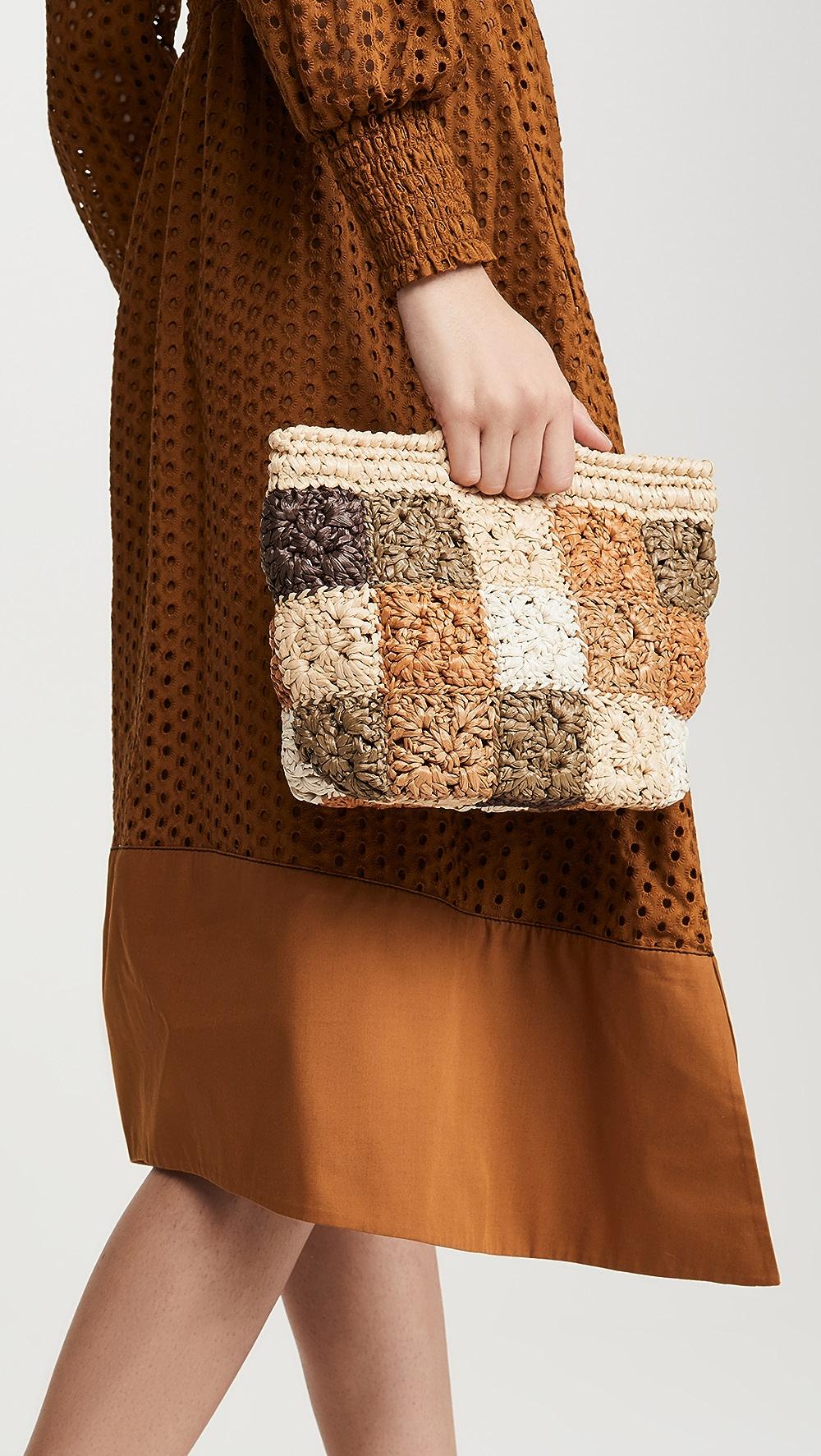 Fashion Style Caterina Bertini - Woven Tote Bag Durable Service