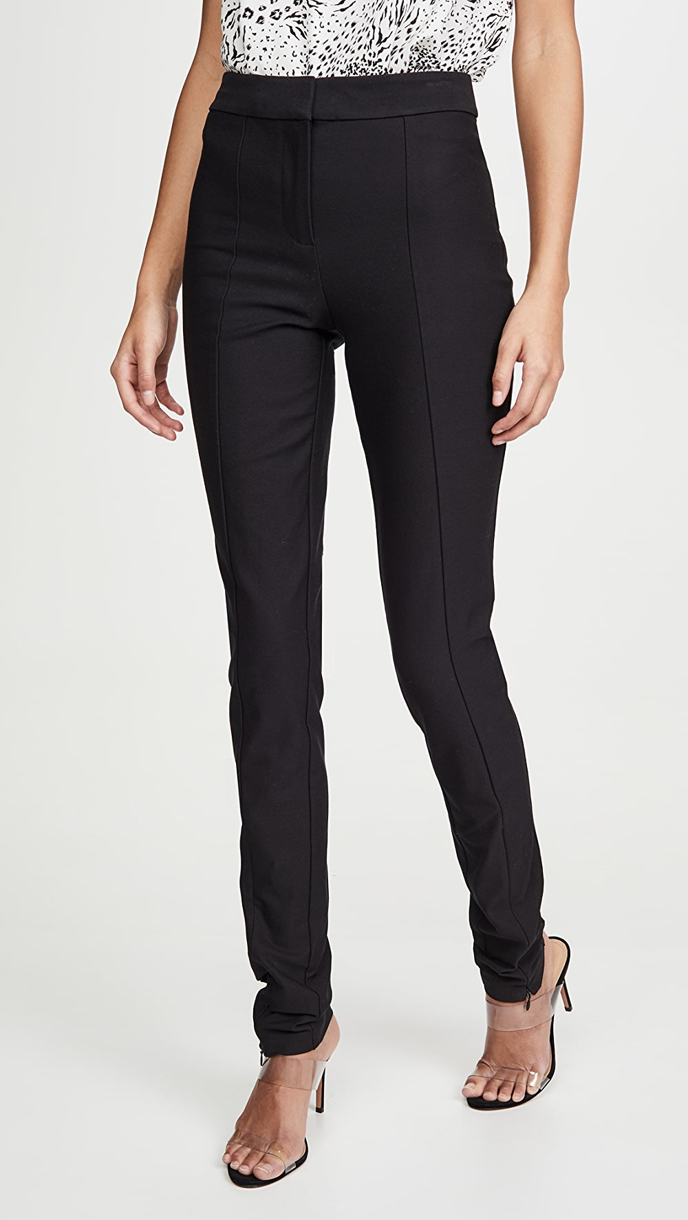 Reasonable Derek Lam 10 Crosby - Ora Slim Trousers With Front Slit Agreeable To Taste