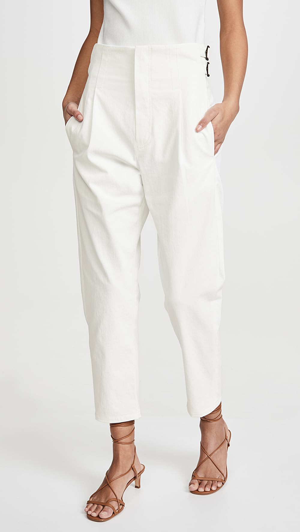 Logical Colovos - Buckle Pants Wide Selection;