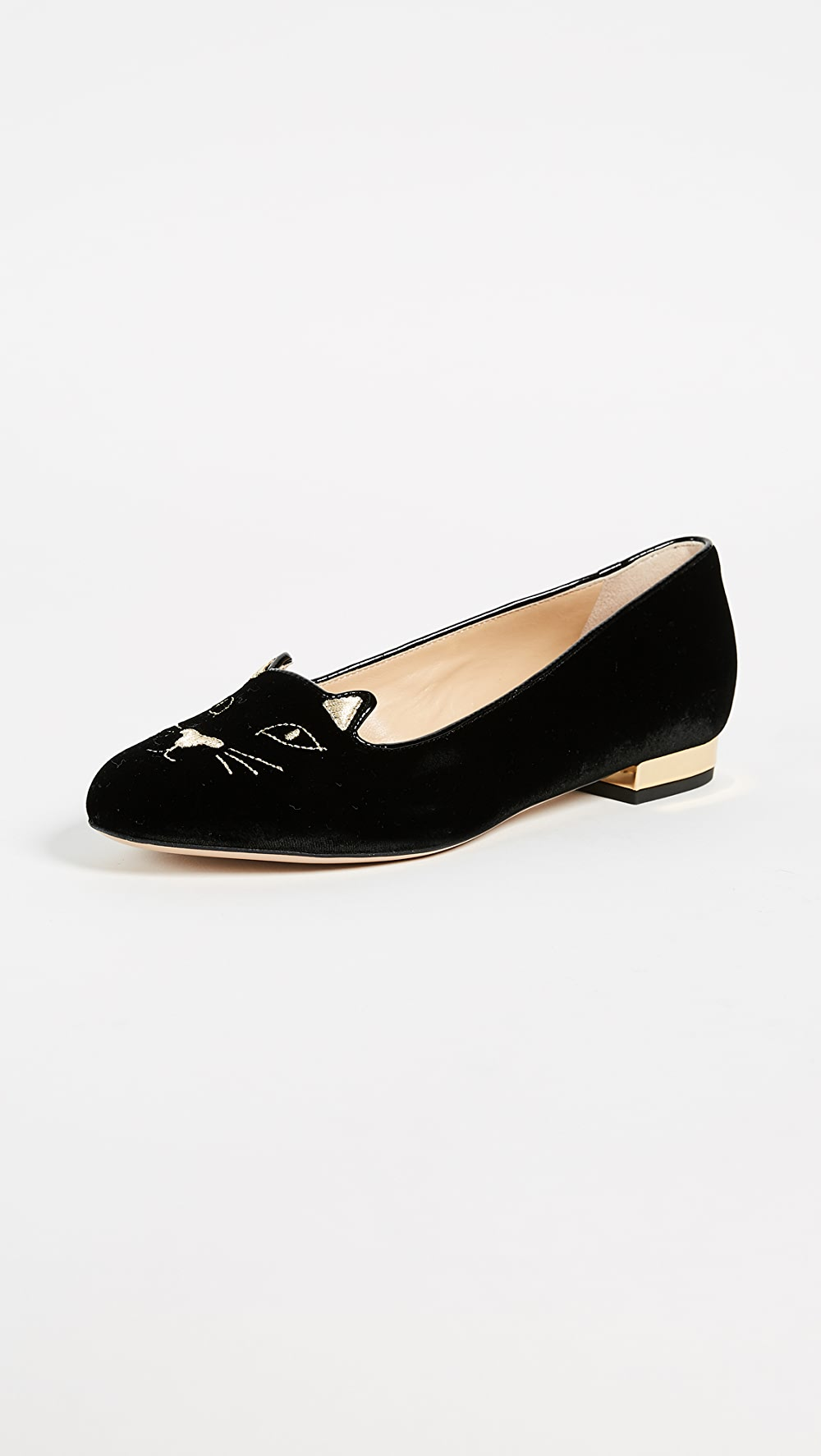 Confident Charlotte Olympia - Kitty Flats Packing Of Nominated Brand
