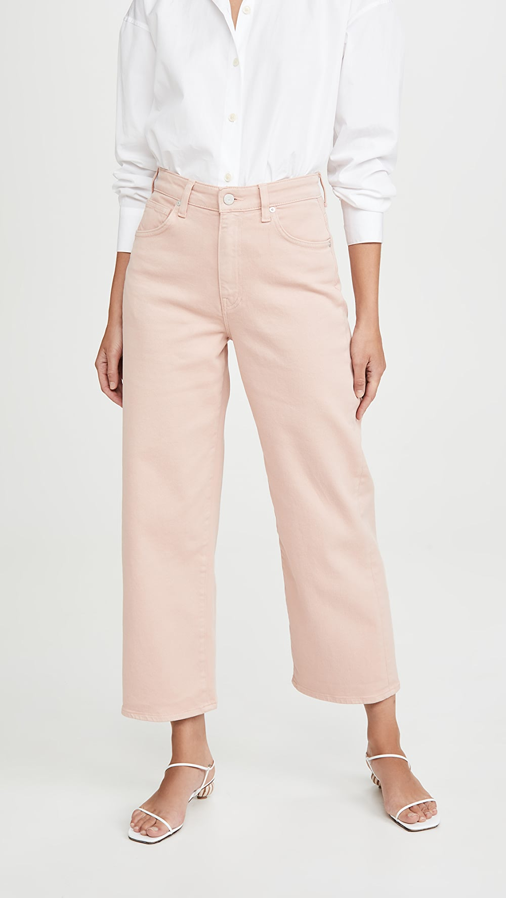 100% Quality Cqy - Sunday Wide Leg Crop Jeans High Quality And Low Overhead