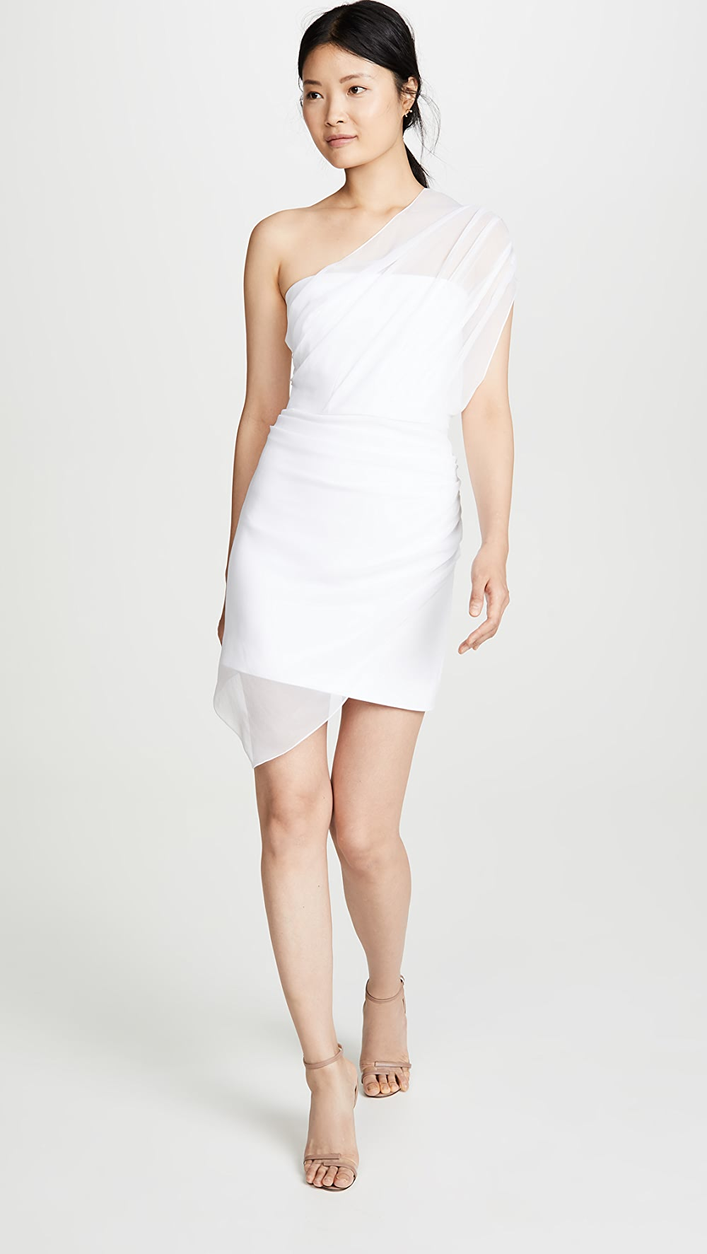 100% Quality Cushnie - Strapless Mini Dress With Draped Chiffon Overlay Diversified Latest Designs