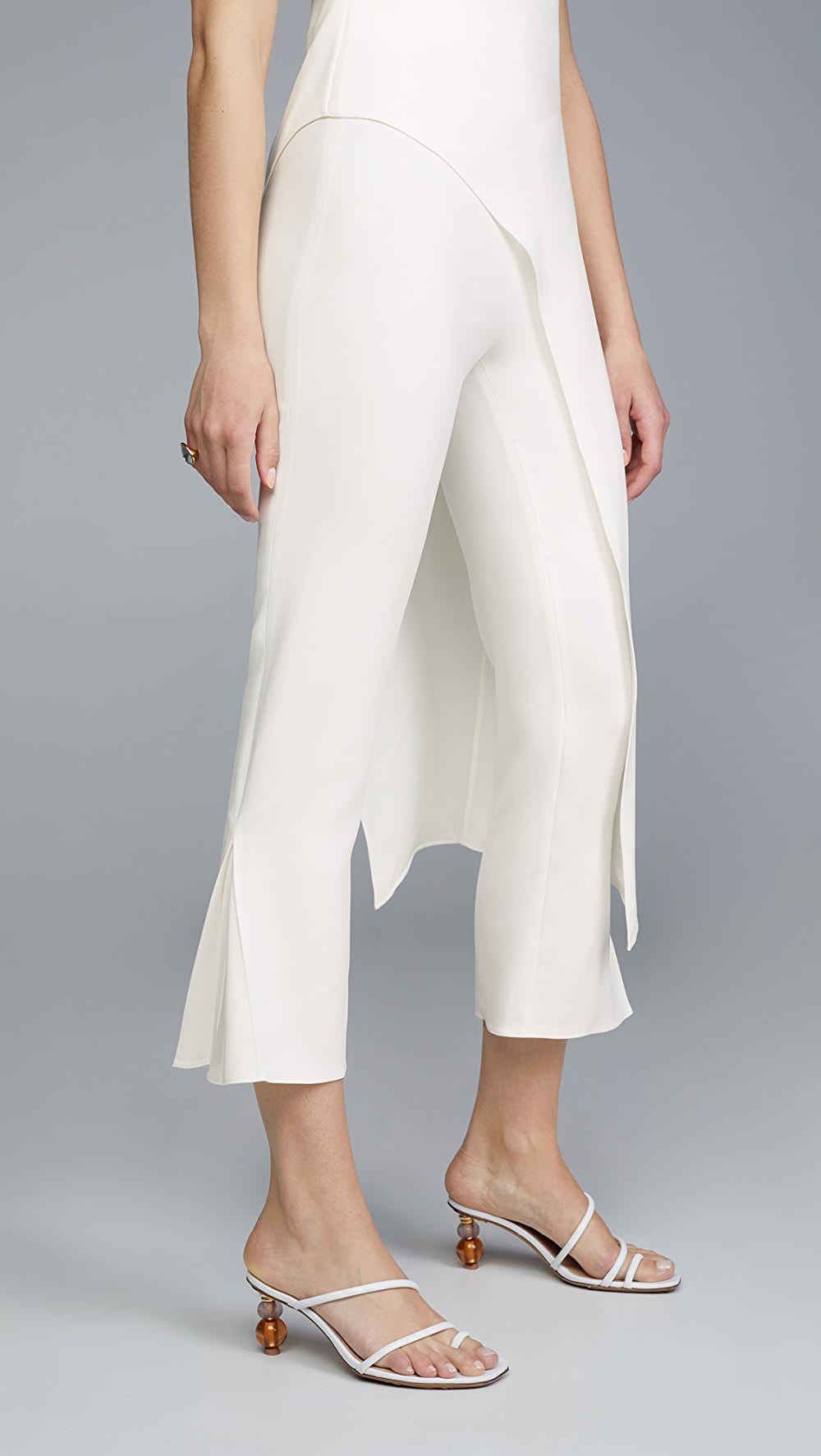Confident Cushnie - High Waisted Cropped Fitted Pants Harmonious Colors