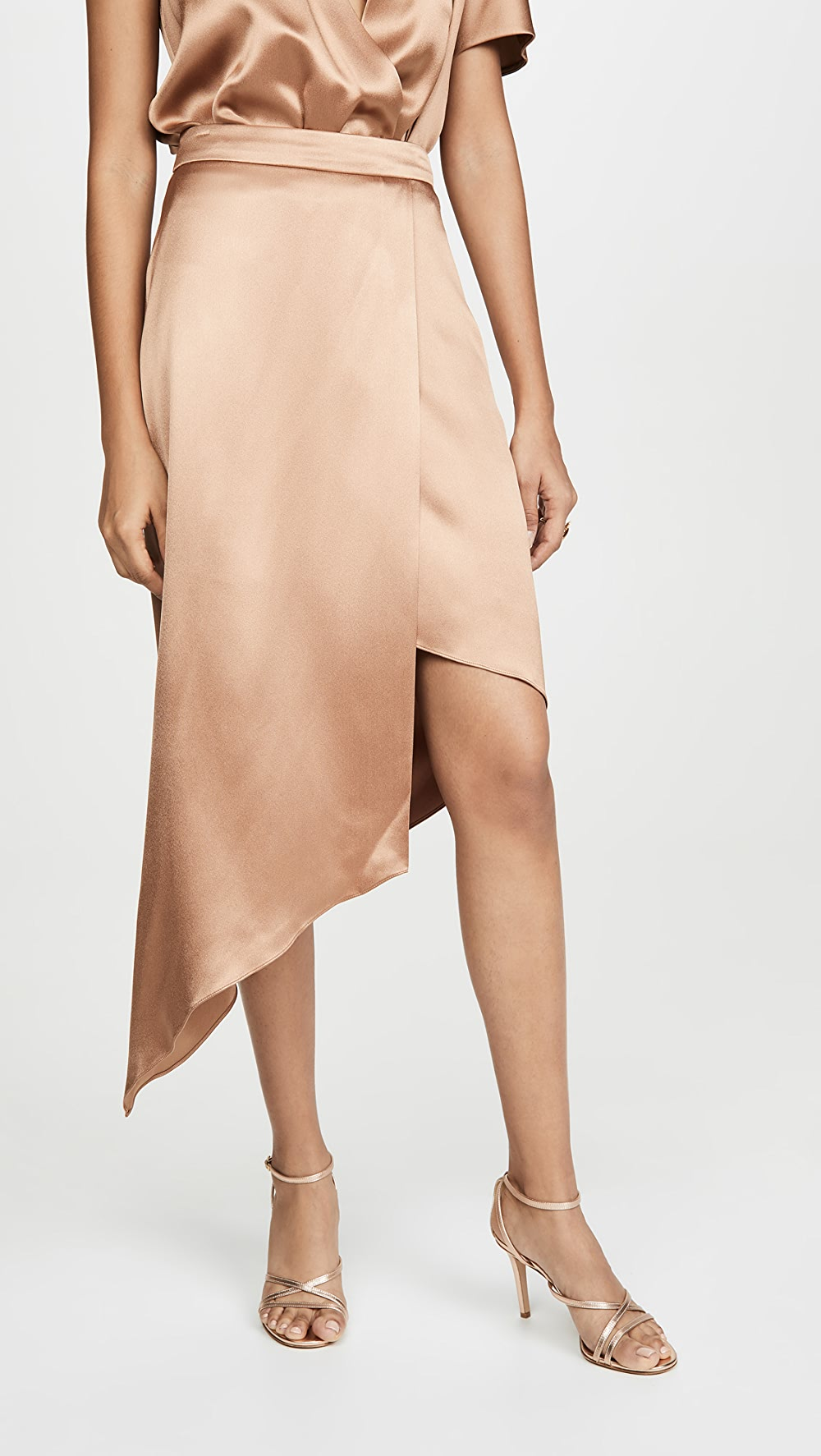 2019 Fashion Cushnie - High Waist Skirt With Asymmetrical Hem Quell Summer Thirst