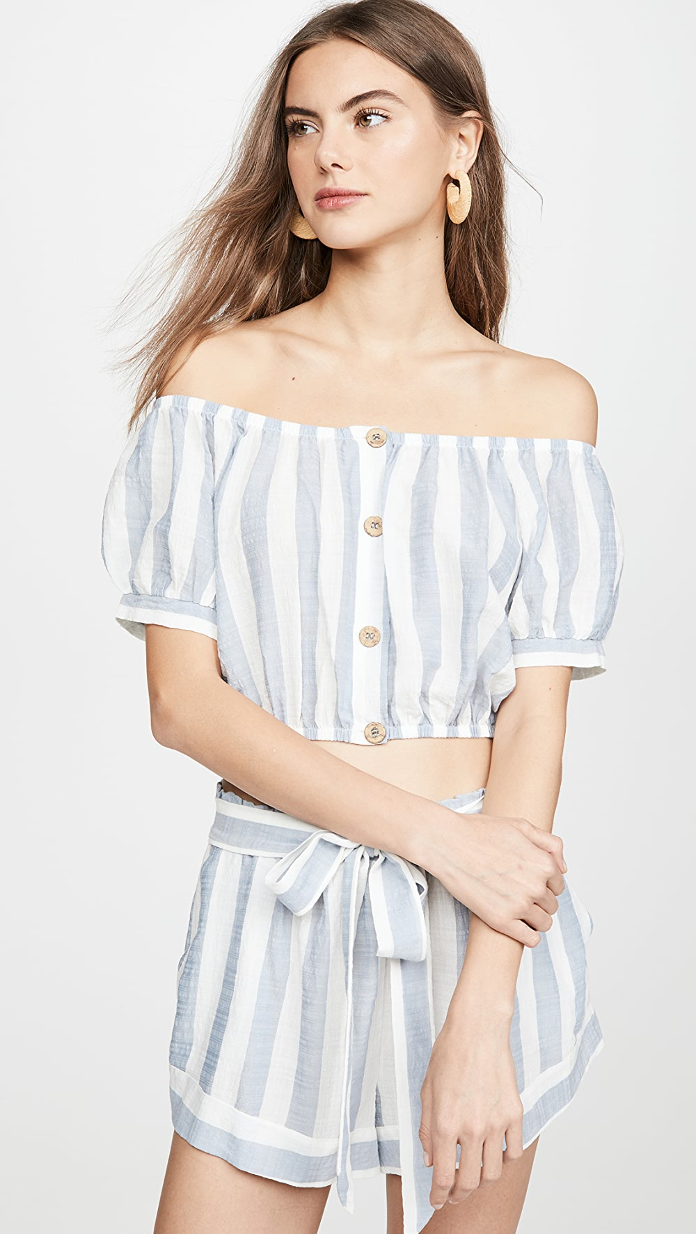 2019 New Style Eberjey - Umbrella Stripe Harper Top We Have Won Praise From Customers