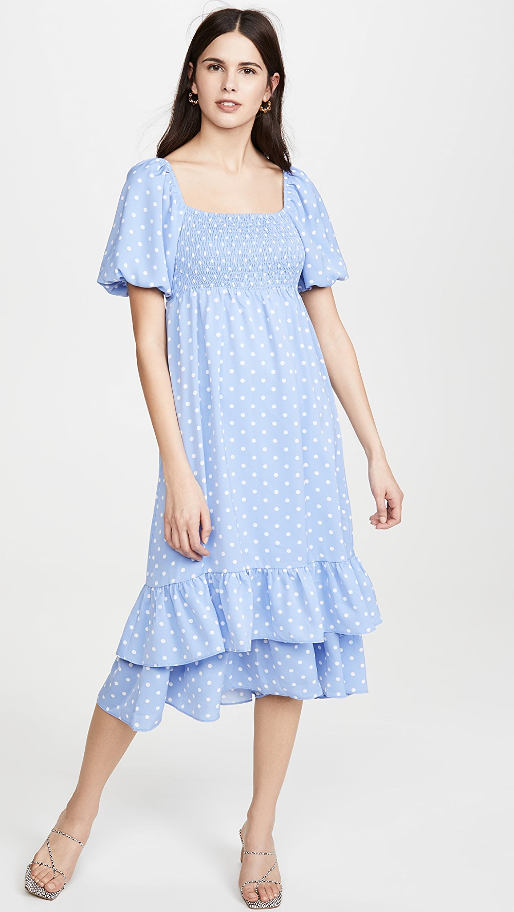 100% Quality English Factory - Dot Pattern Long Dress Spare No Cost At Any Cost