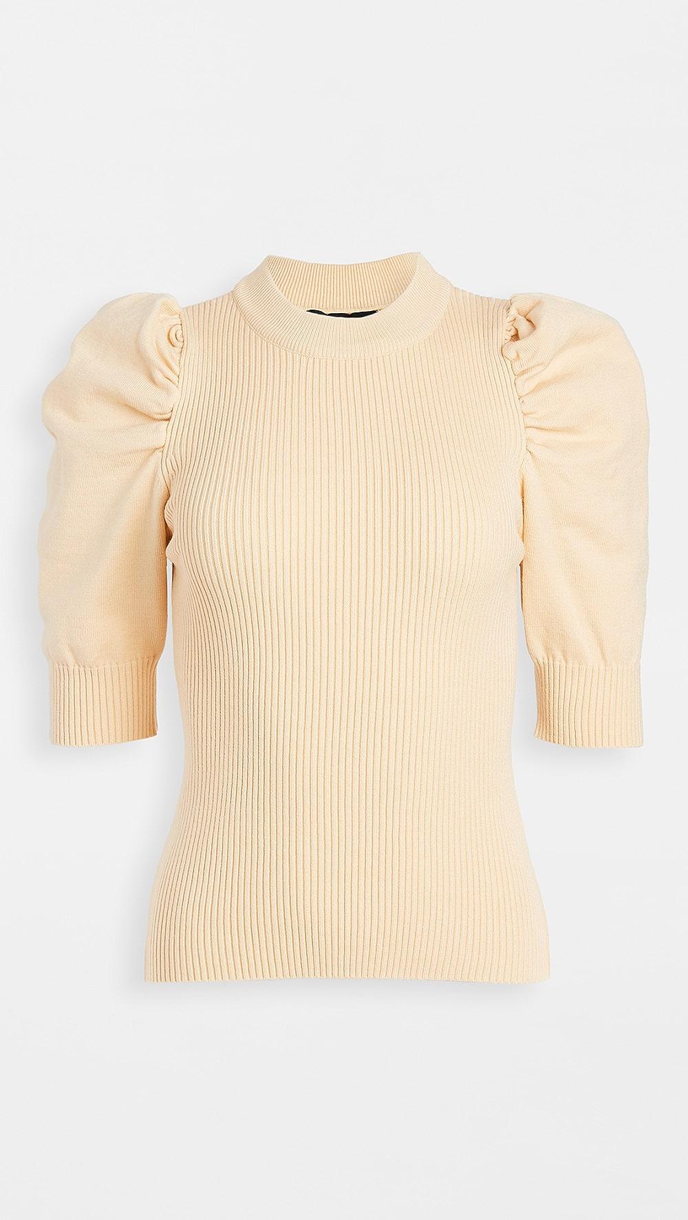 2019 New Style En Saison - Puff Sleeve Sweater Top Regular Tea Drinking Improves Your Health
