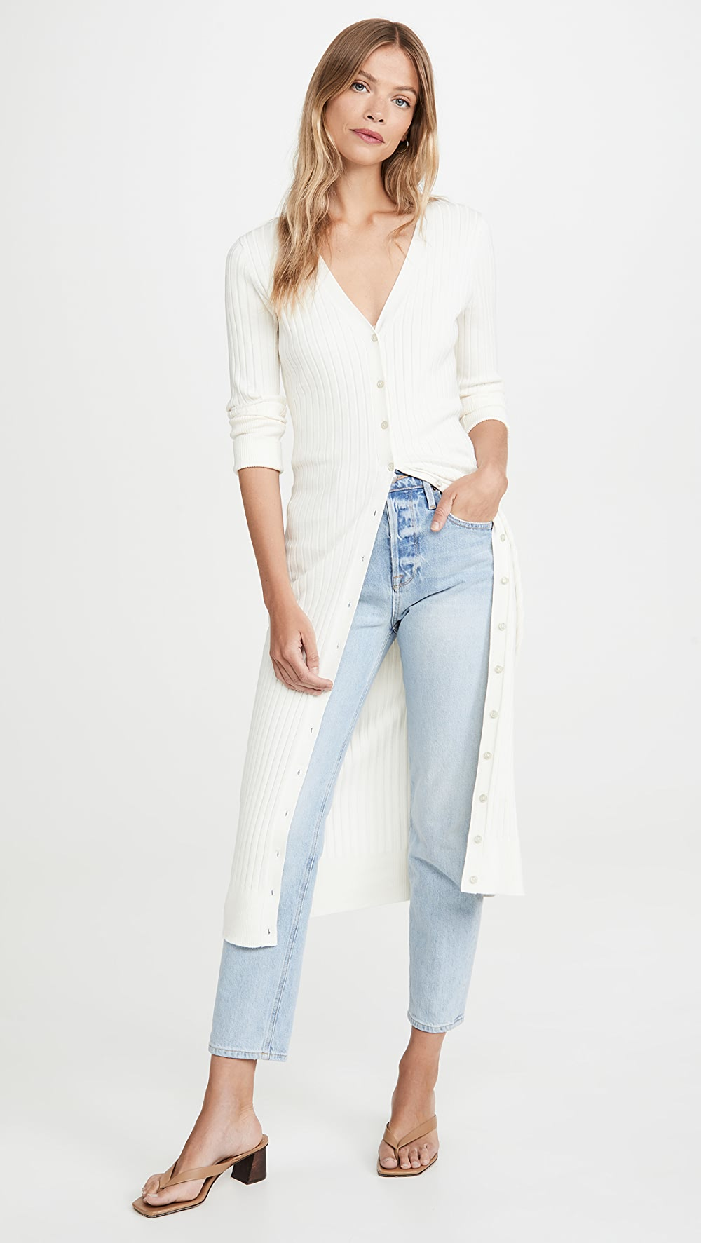 100% True 525 - Wide Rib Long Cardigan To Make One Feel At Ease And Energetic