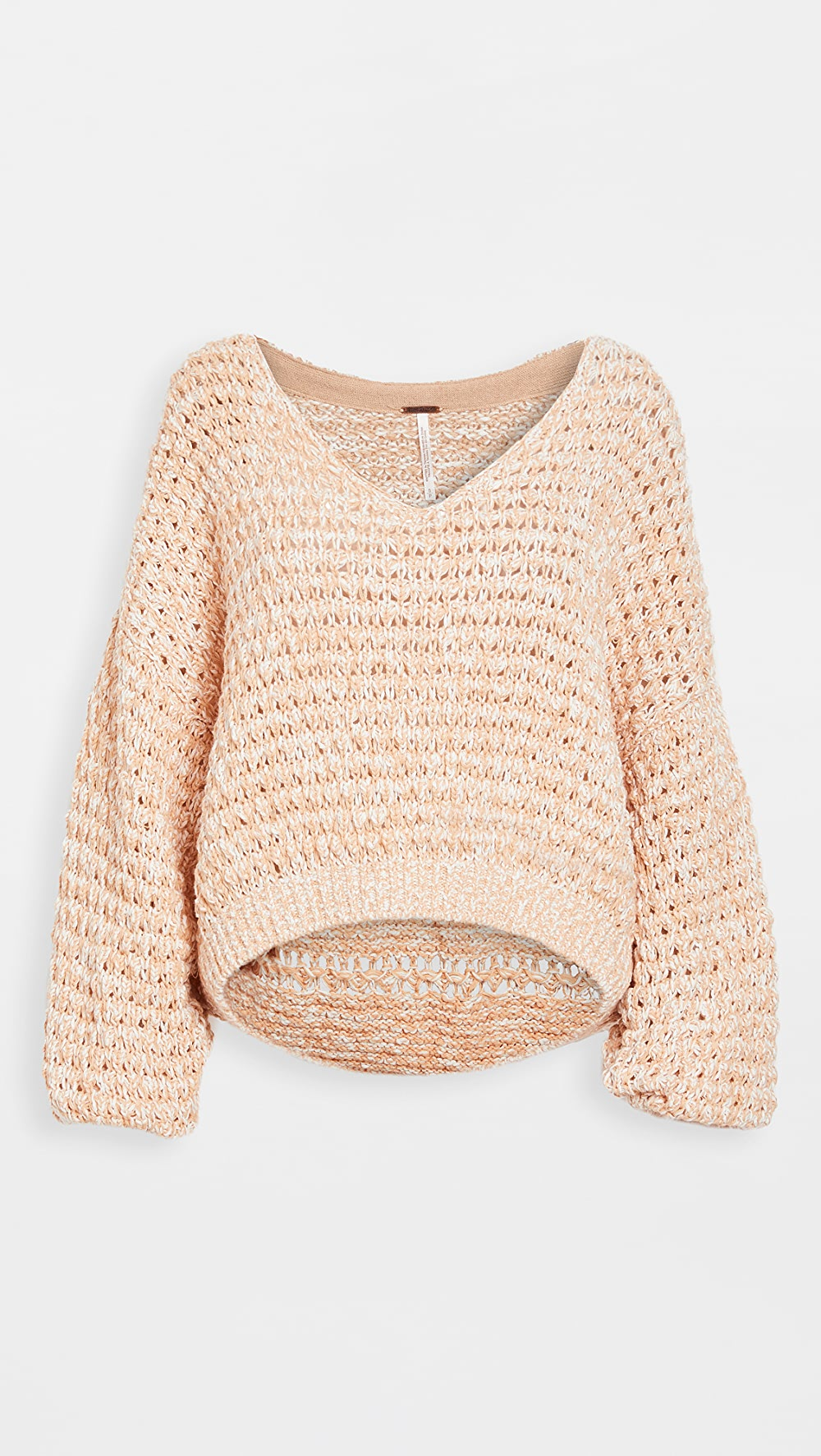 100% True Free People - Coconut V Sweater To Produce An Effect Toward Clear Vision