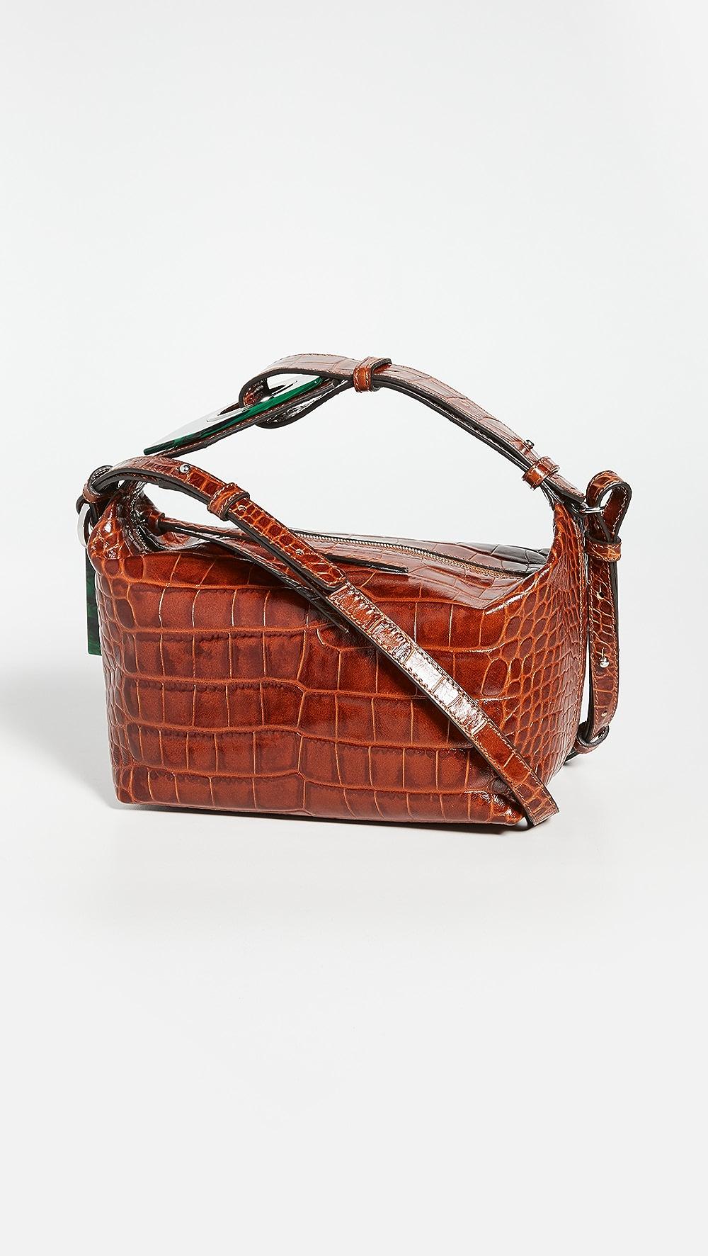 Precise Ganni - Embossed Shoulder Bag Perfect In Workmanship