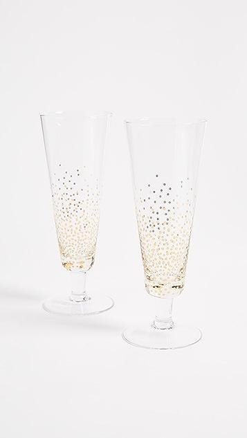 礼物精品馆泡泡香槟玻璃杯2件装
