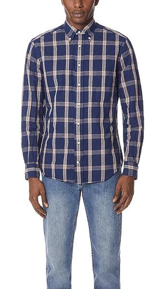 Gitman Vintage长袖棉制Line衬衣