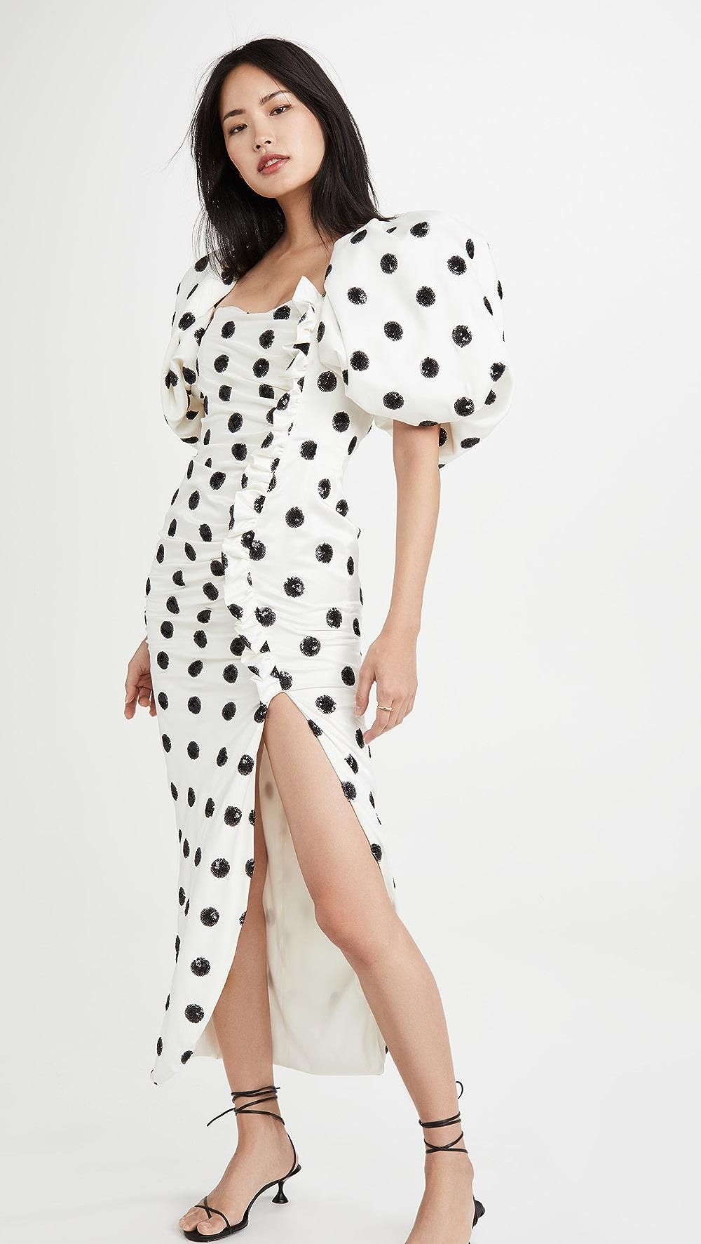 Honesty Giuseppe Di Morabito - Puff Sleeve Dress With Slit Discounts Sale