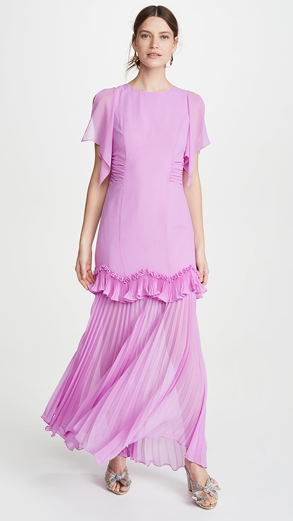 Flight Tracker Halston - Dramatic Pleated Gown Selling Well All Over The World