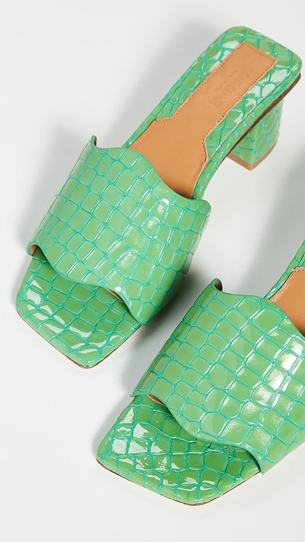 Good Jaggar - Scallop Croc Heel Slides Ideal Gift For All Occasions