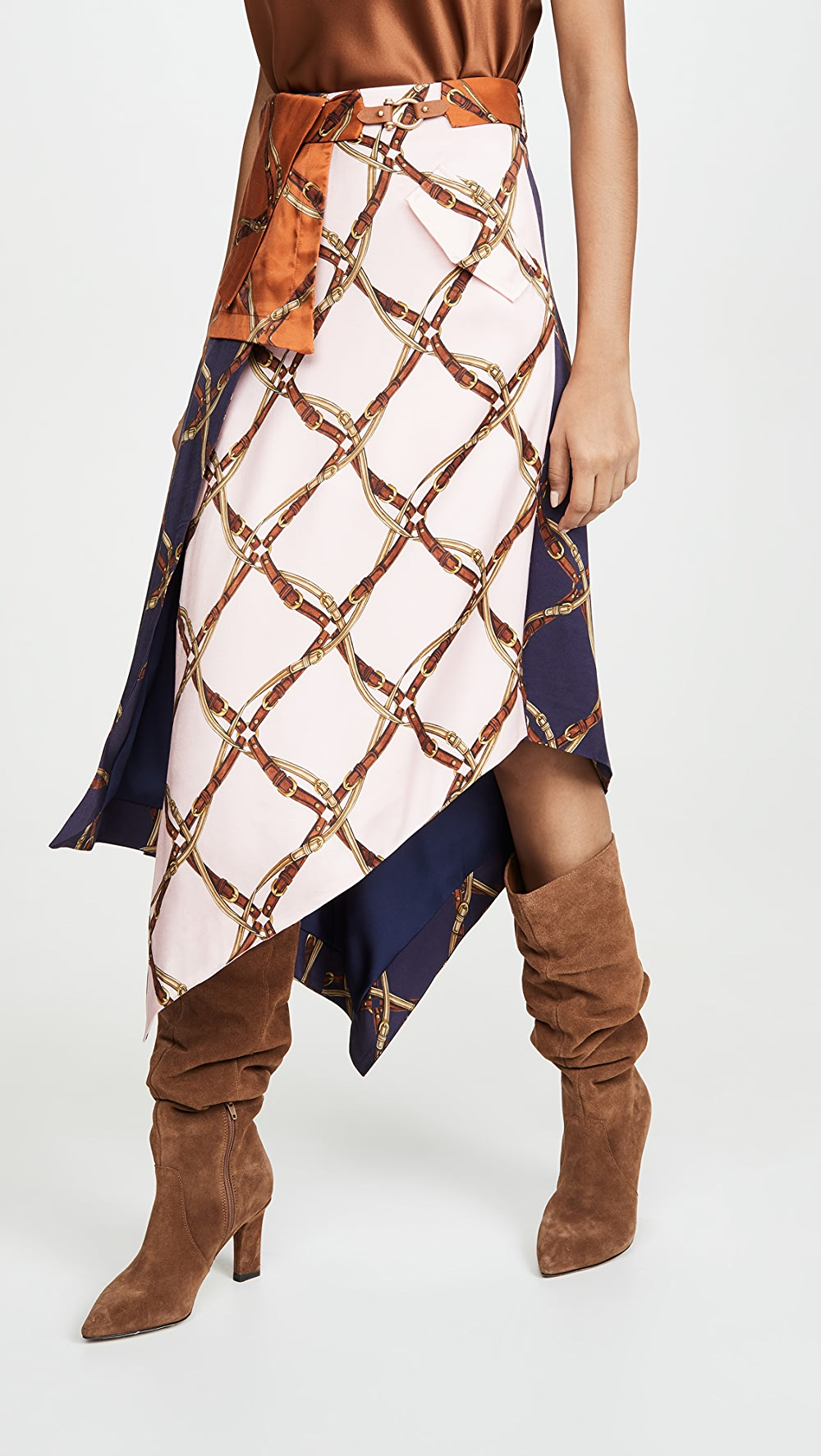 Beautiful Jonathan Simkhai - Saddle Print Handkercheif Skirt Refreshment
