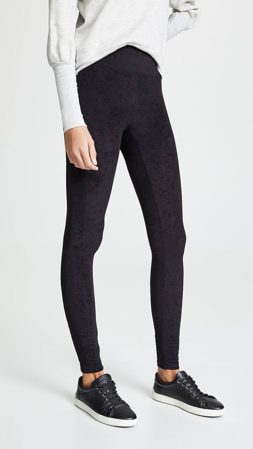100% Quality James Perse - High Waist Velvet Leggings Yet Not Vulgar