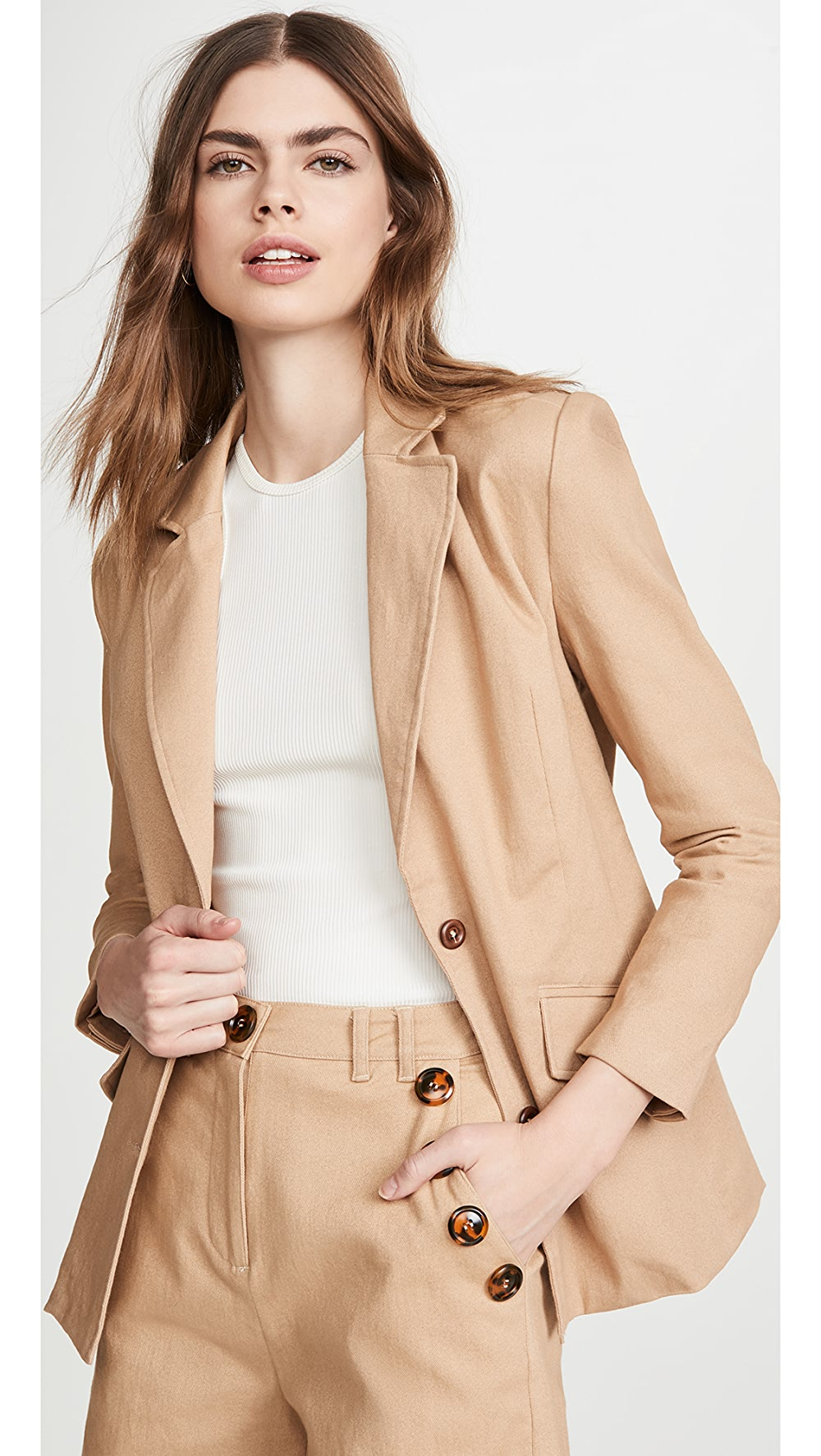 Intellective Kendall + Kylie - Twill Blazer Jacket Curing Cough And Facilitating Expectoration And Relieving Hoarseness