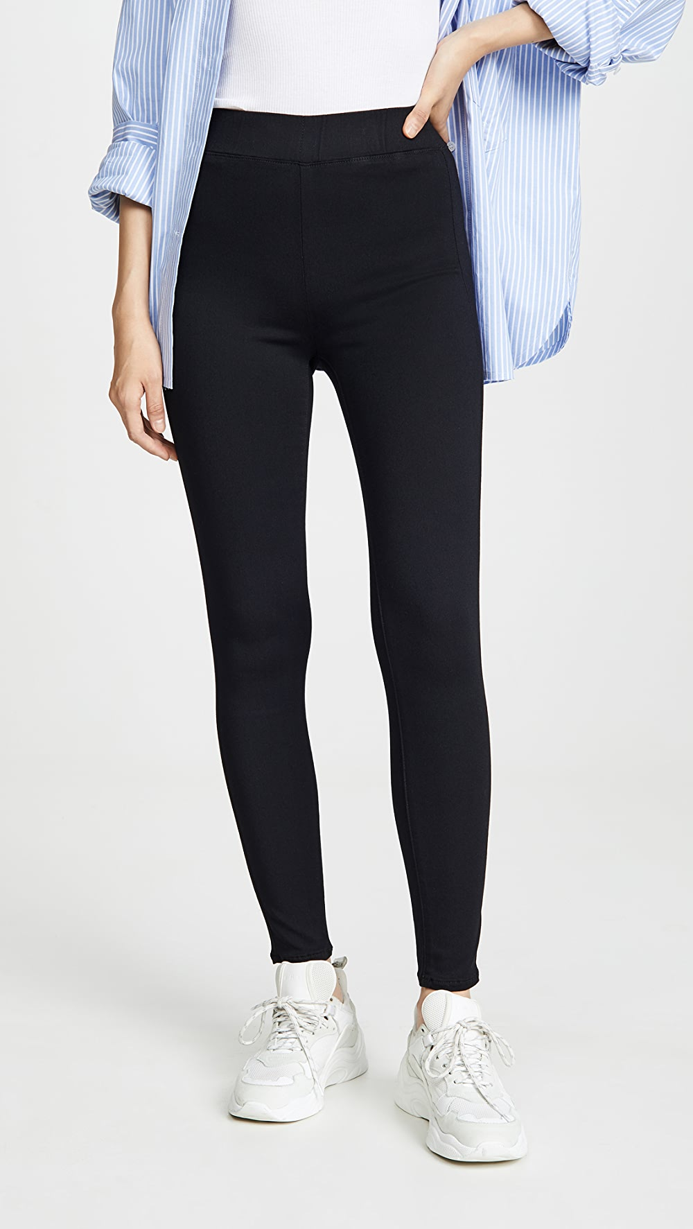 Fine L'agence - Rochelle High Rise Pull On Jeans Lustrous Surface