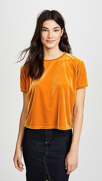 Liana Clothing Margo丝绒T恤