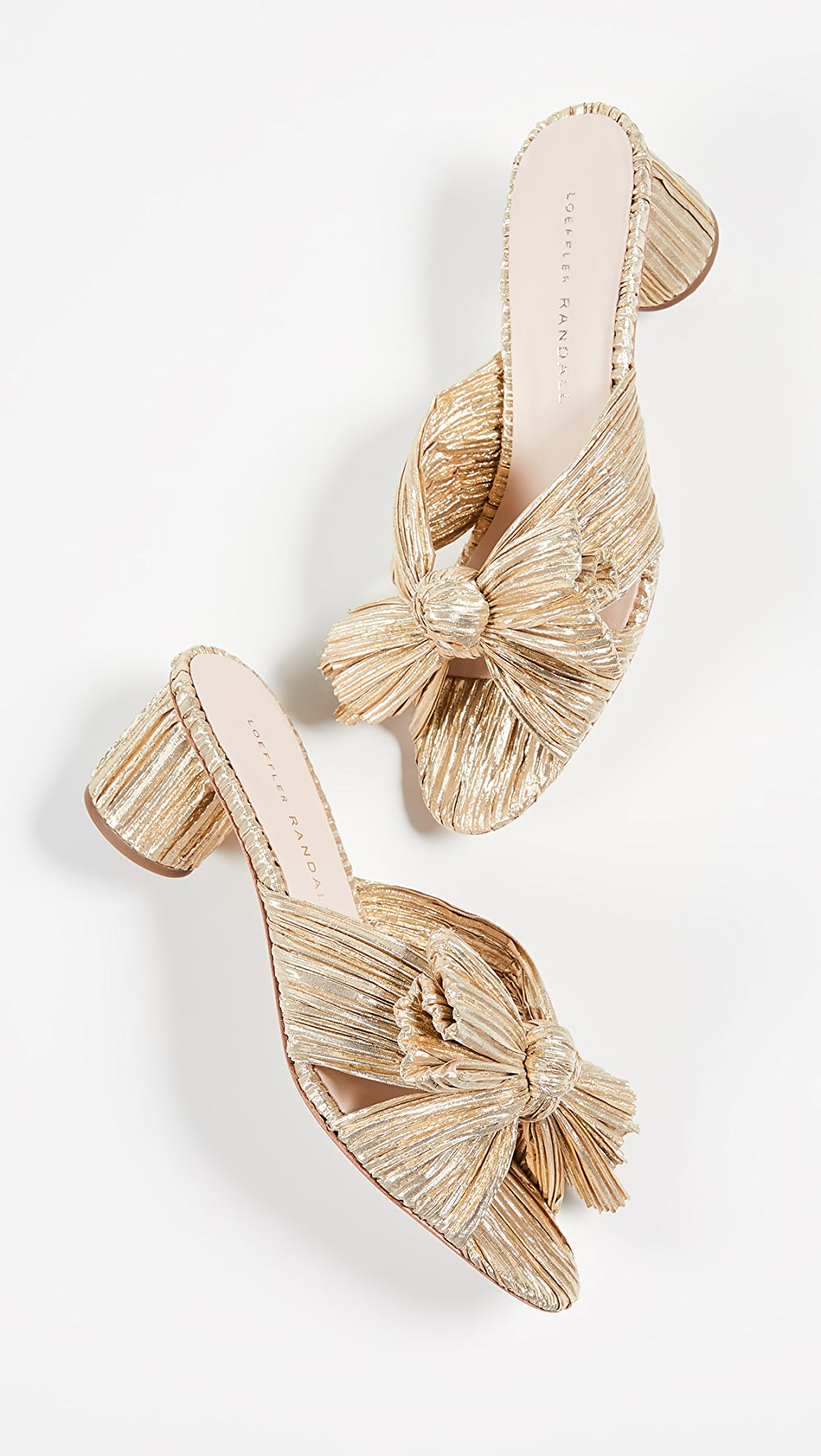 Aspiring Loeffler Randall - Emilia Pleated Knot Mules Possessing Chinese Flavors