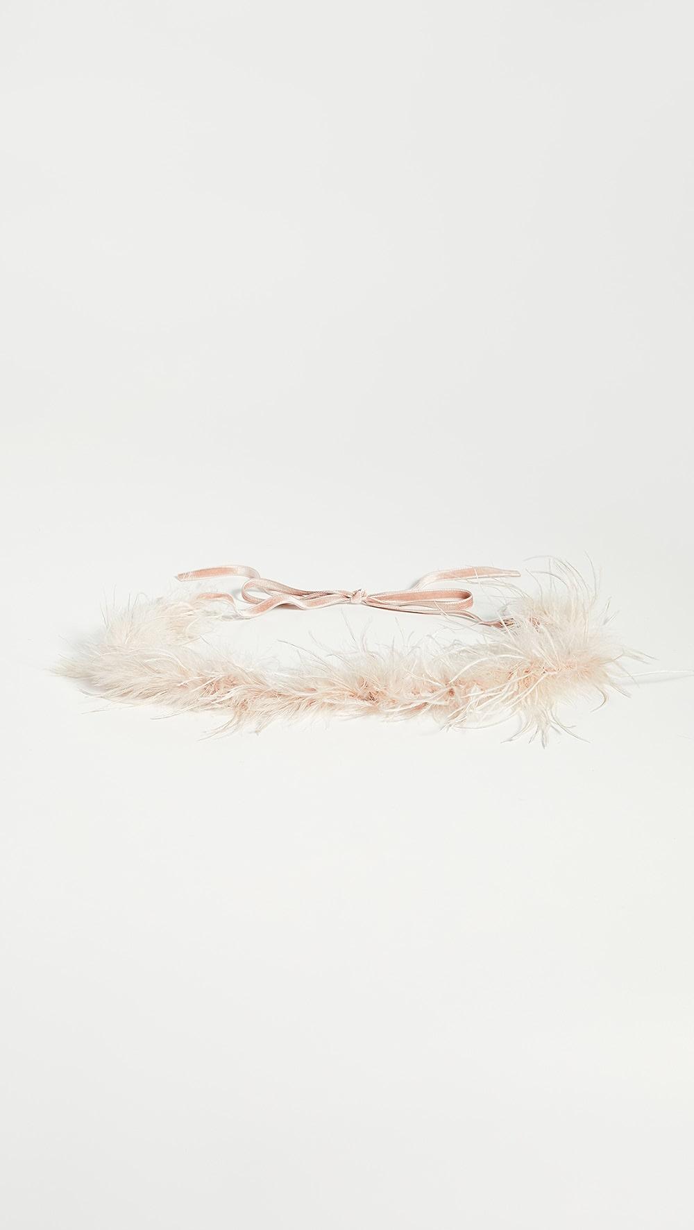 Candid Loeffler Randall - Valentine Feather Belt Lovely Luster