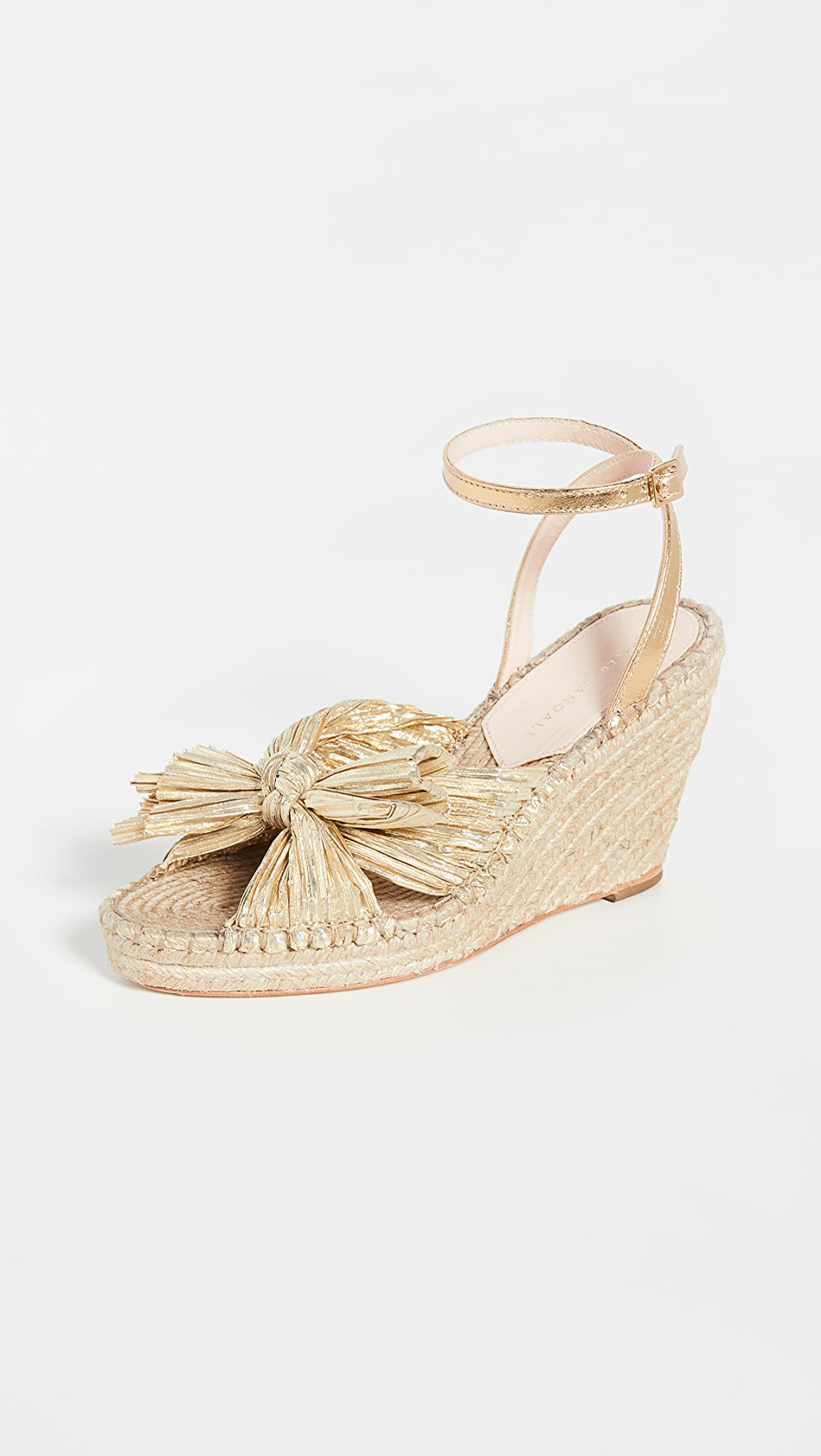 Reliable Loeffler Randall - Charley Pleated Knot Espadrille Wedge Attractive Fashion