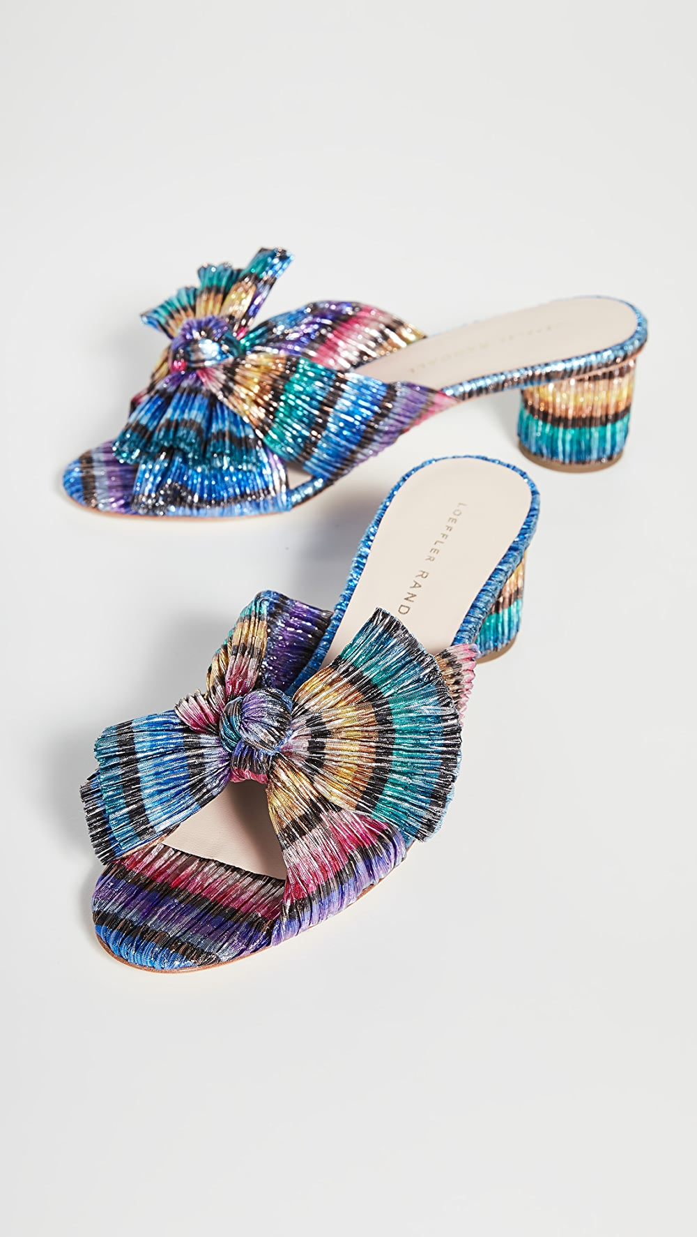 Active Loeffler Randall - Emilia Pleated Knot Mules As Effectively As A Fairy Does