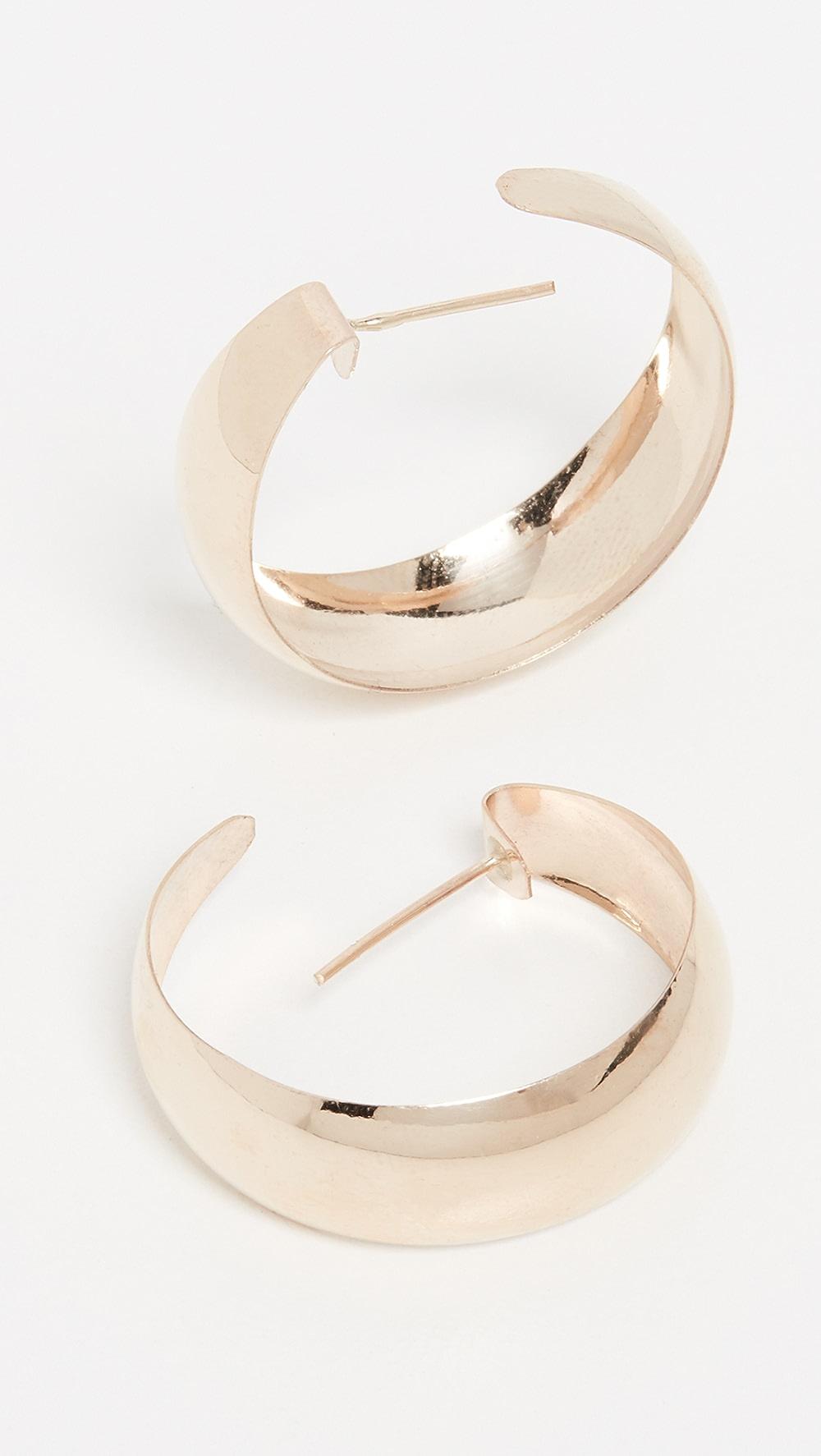 100% Quality Loren Stewart - Dome Hoop Earrings Refreshment