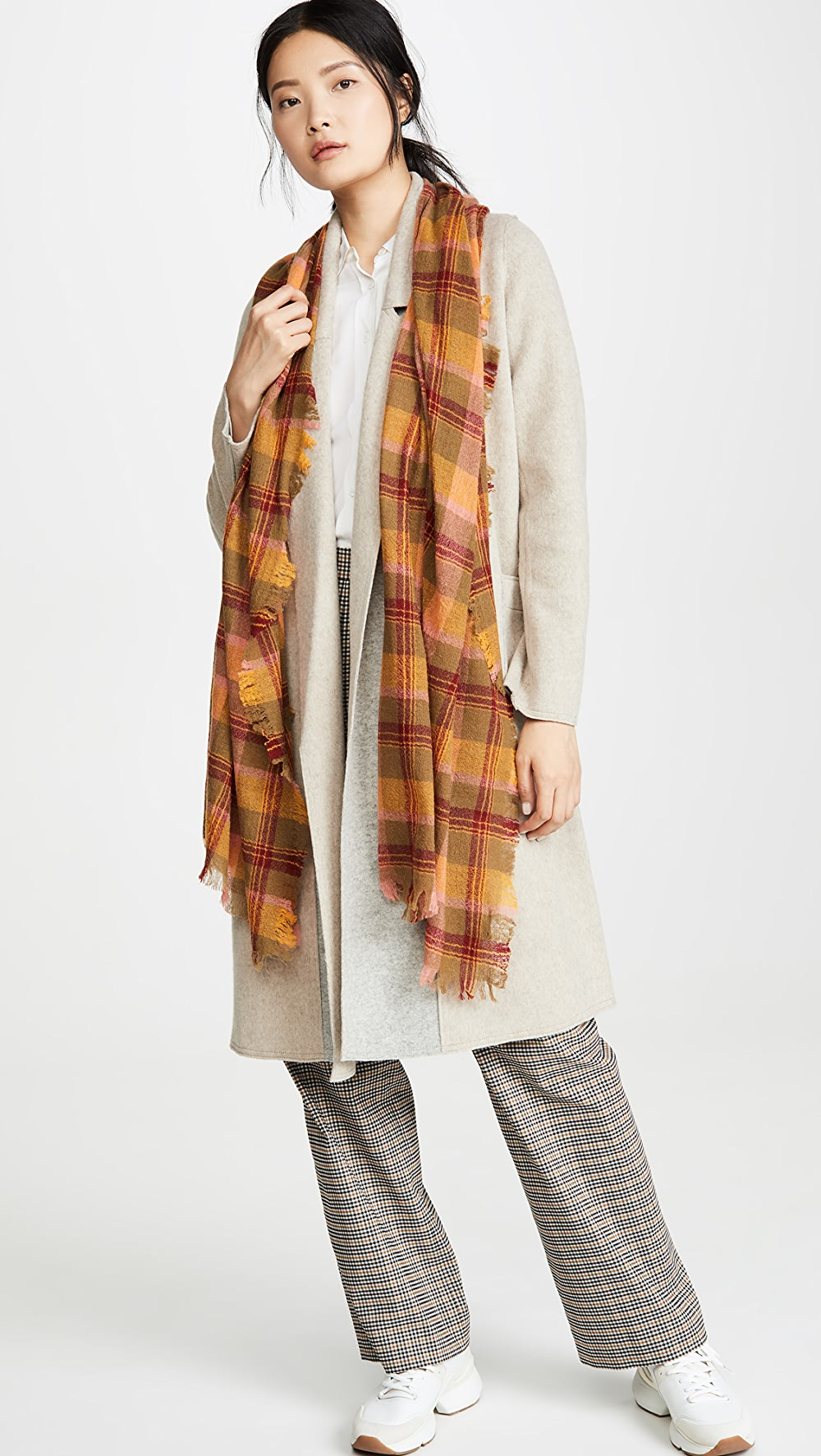 Considerate Madewell - Colorful Plaid Scarf Handsome Appearance